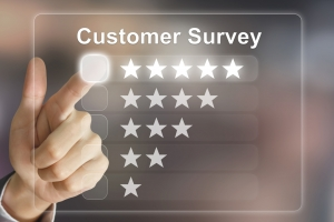 Call Monitoring insight 300x200 - business hand pushing customer survey on virtual screen