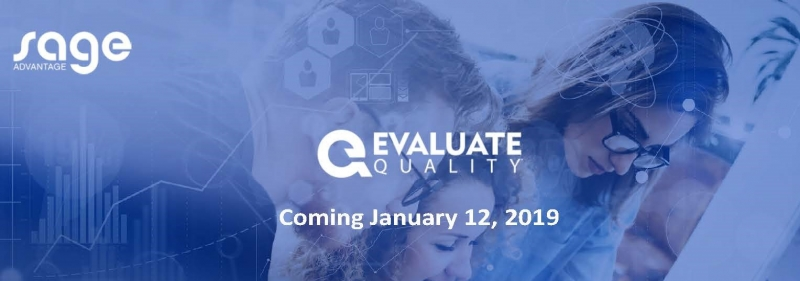 Sage Advantage Evaluate Quality Banner - Evaluate Quality - New Release (Call Center Quality Assurance)